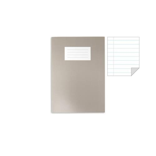Oxford Laminated Exercise Book  A4 8mm ruled and margin 80 Page Grey