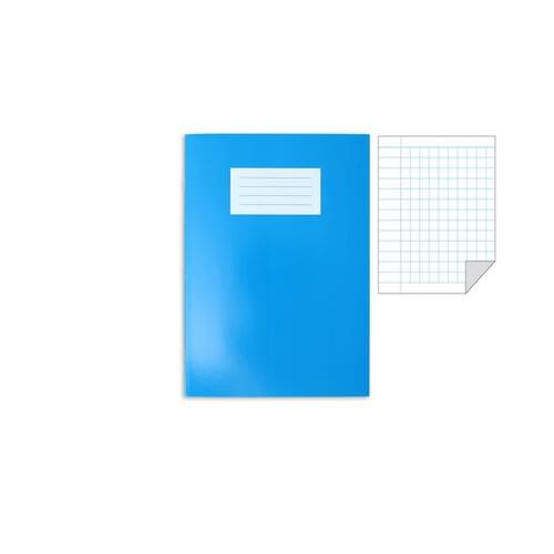 Oxford Laminated Exercise Book  A4 5mm Squared and margin 80 Page Light Blue