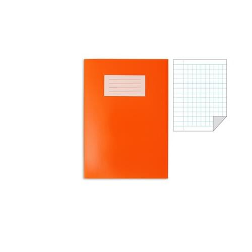 Oxford Laminated Exercise Book  A4 5mm Squared and margin 80 Page Orange