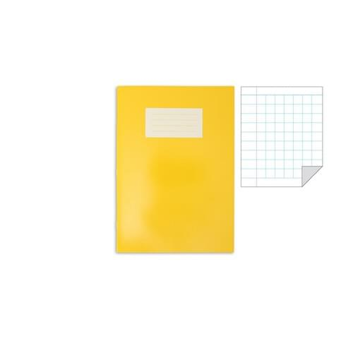 Oxford Laminated Exercise Book  A4 7mm Squared and margin 80 Page Yellow