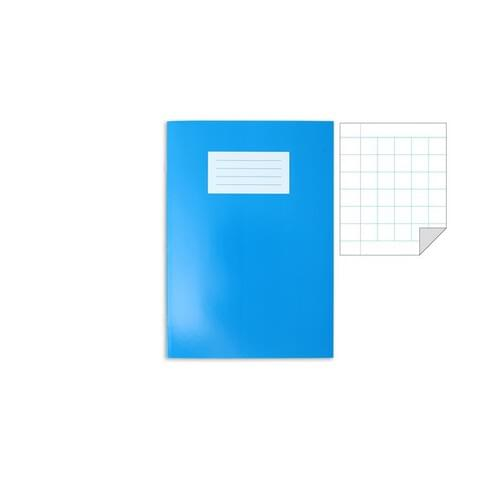Oxford Laminated Exercise Book  A4 10mm Squared and margin 80 Page Light Blue