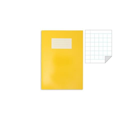 Oxford Laminated Exercise Book  A4 10mm Squared and margin 80 Page Yellow
