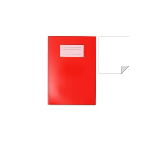 Oxford Laminated Exercise Book  A4 PLAIN 80 Page Red