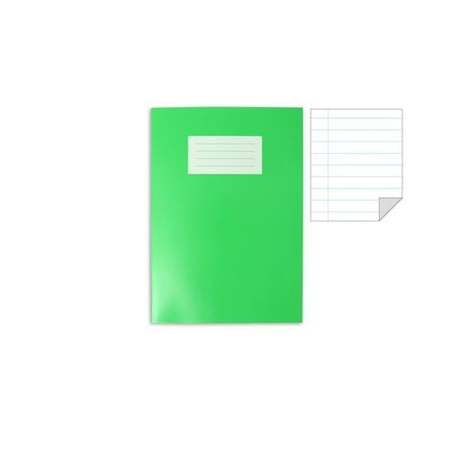 Oxford Laminated Exercise Book  A4+ 8mm ruled and margin 80 Page Light  Green