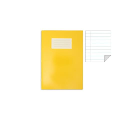 Oxford Laminated Exercise Book  A4+ 8mm ruled and margin 80 Page Yellow