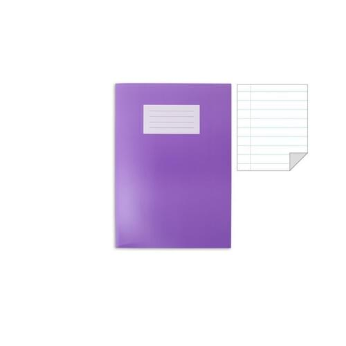 Oxford Laminated Exercise Book  A4+ 8mm ruled and margin 80 Page Purple