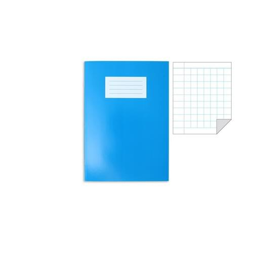 Oxford Laminated Exercise Book  A4+ 7mm Squared and margin 80 Page Light Blue