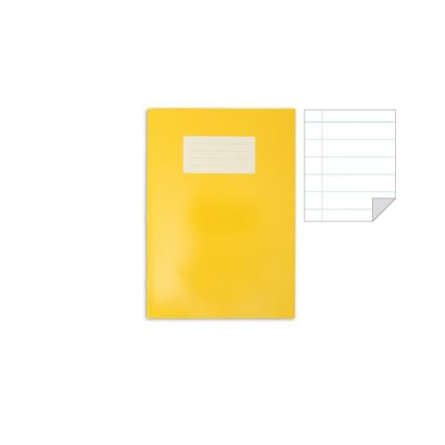 Oxford Laminated Exercise Book  A4+ 12mm ruled and margin 80 Page Yellow