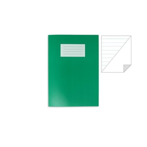 Oxford Laminated Exercise Book  A4 8mm ruled / PLAIN ALT 80 Page Dark Green