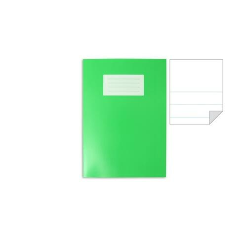 Oxford Laminated Exercise Book  A4 PLAIN TOP / 15mm BOTTOM 64 Page Light Green
