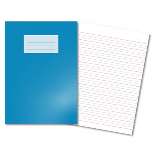 A4 4/16mm Ruled 80 Page Red Handwriting Book - Pack 50