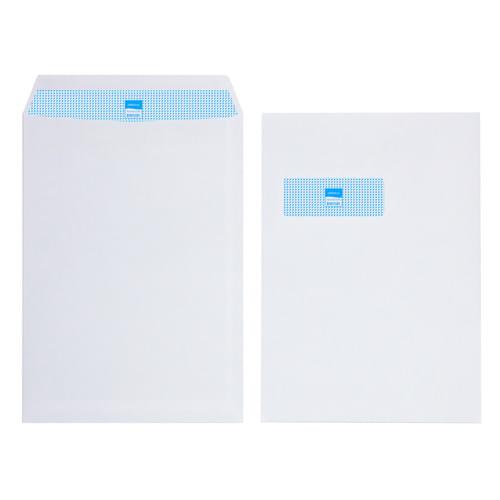 Initiative White Envelopes C4 324mm x 229mm Self Seal Window 90gsm Box 250s