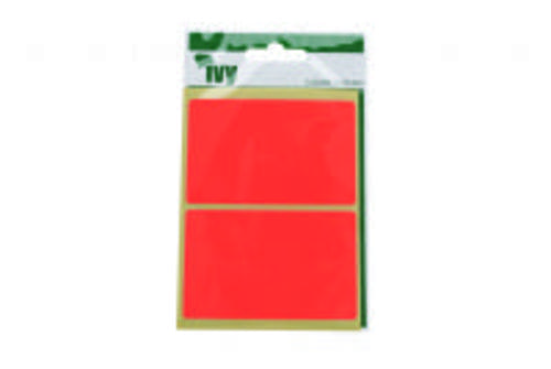 Ivy Self Adhesive Lable 50mm x 80mm Red Pack 8