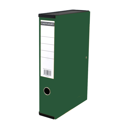 Linen Box Files Foolscap Green