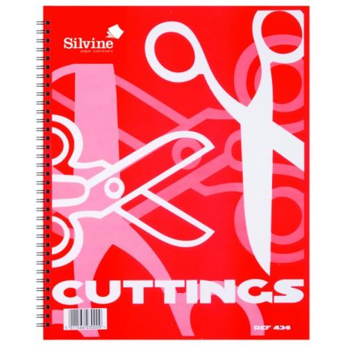 Silvine Twin Wire Cuttings Book 317mm x 250mm