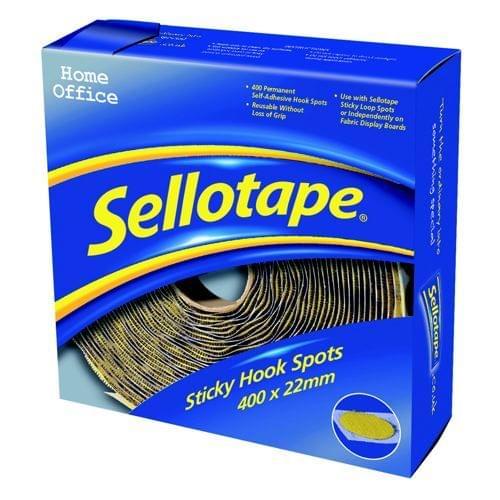Sellotape Sticky Hook Spots Pack 400s