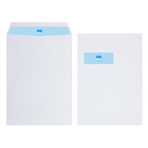 Initiative White Envelopes C4 324mm x 229mm Self Seal Window 100gsm Box 250s
