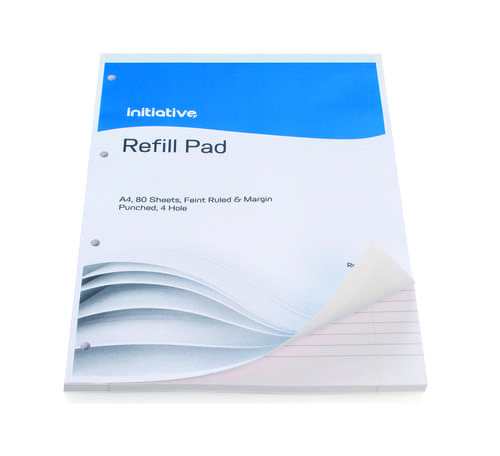 Initiative Refill Pads A4 80lf Feint  Margin