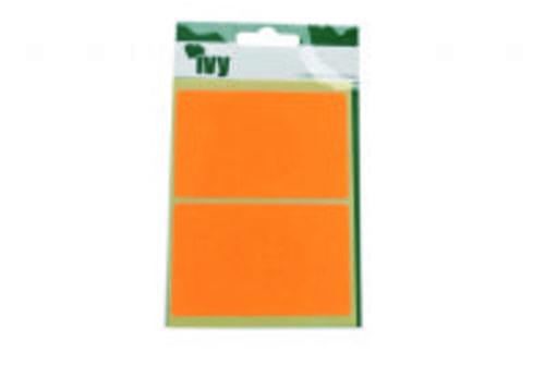 Ivy Self Adhesive Lable 50mm x 80mm Orange  Pack 8
