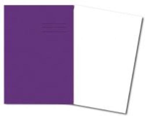 Exercise Books A4+ 320mm x 240mm 80 Pages Plain Purple