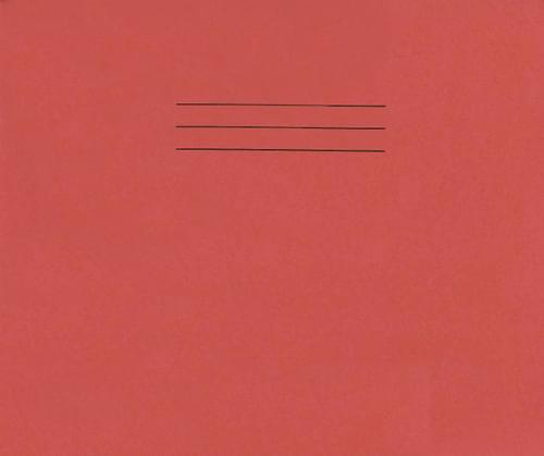 Handwriting Books 165 x 200mm 40 Pages 6mm Ruling  21mm Ruling Red