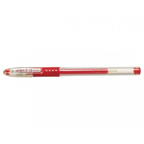 Pilot G1 Grip Gel Rollerball Pens 0.5mm Red