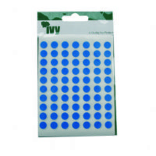Ivy Self Adhesive Lable 8mm Diameter Blue Pack 490