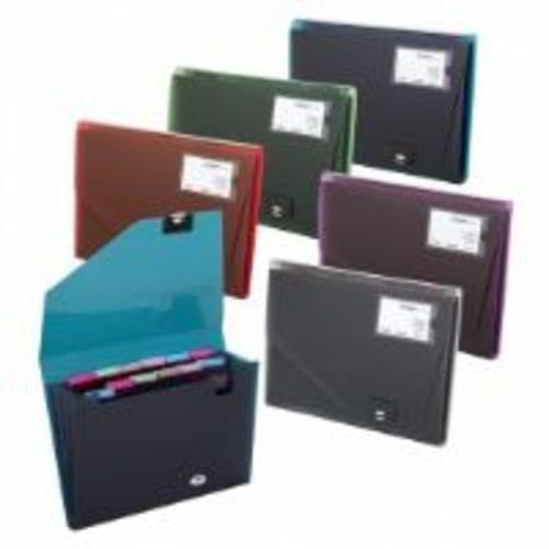 Fusion 13 Part Step Index Organiser Assorted Colours