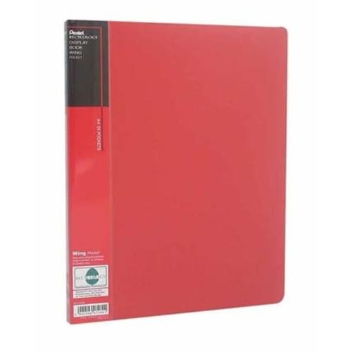 Pentel Wing Display Books A4 20 Pockets Red