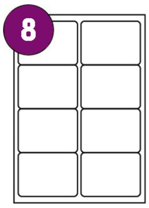 Inkjet  Laser Labels A4 8 Labels Per Sheet Box 100s