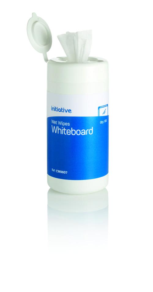 Initiative Wet Whiteboard Wipes Pack 100