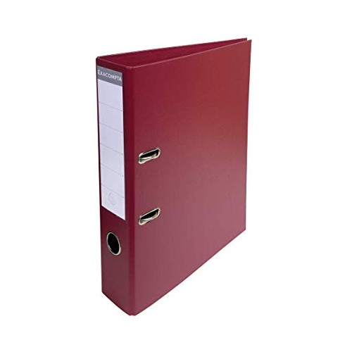 Exacompta Pvc Lever Arch Files A4 70mm Burgundy