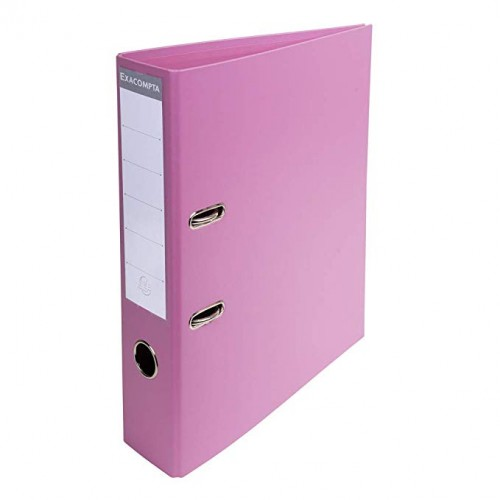 Exacompta Pvc Lever Arch Files A4 70mm Pink