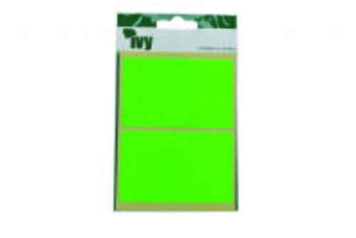 Ivy Self Adhesive Lable 50mm x 80mm Green Pack 8