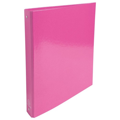 Exacompta Plastic Coated Ring Binders A4+ 2 Ring Rose