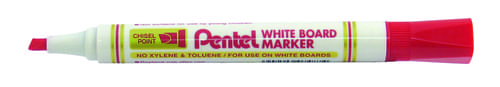 Pentel Everyday WhiteBOARD Markers Chisel Tip Red
