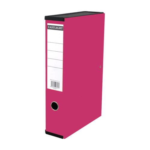 Linen Box File Foolscap Pink