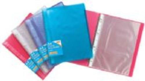 Tiger Stationery Project Ring Binders Tinted Colours  Assorted Complete With 10 Pockets
