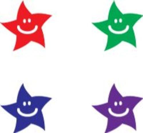 Small Round Stamper Set Smiley Stars Assorted Colours Pack 4s