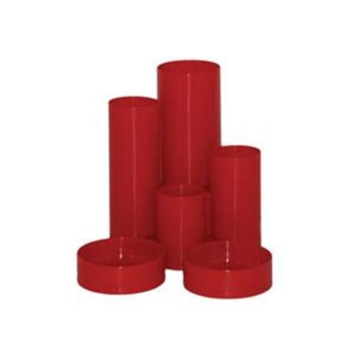 Desk Tidy 6 Tube Red