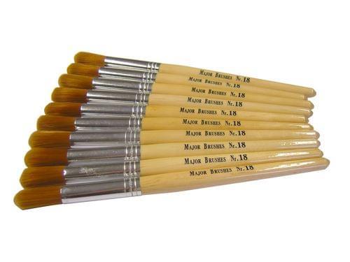 Nylon Stubby Brushes Size 18 Round