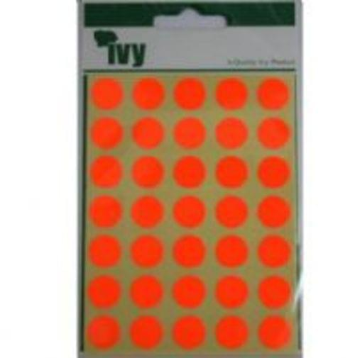 Ivy Self Adhesive Lable 13mm Diameter Red Pack 140