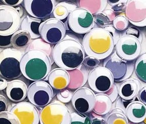 Wiggley Eyes Bright Coloured Assorted 100s