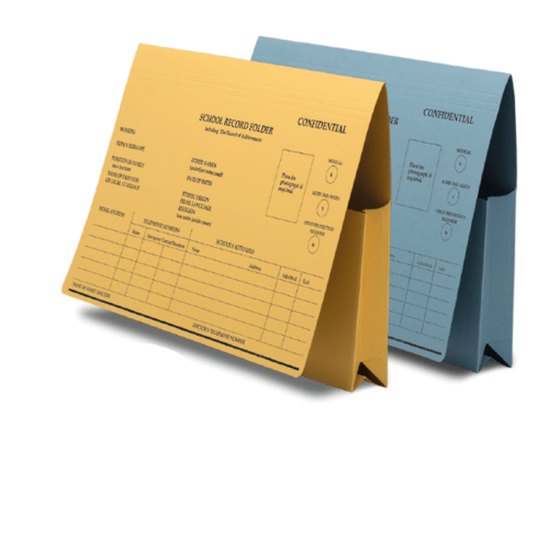 Railex School Record Folder Yellow