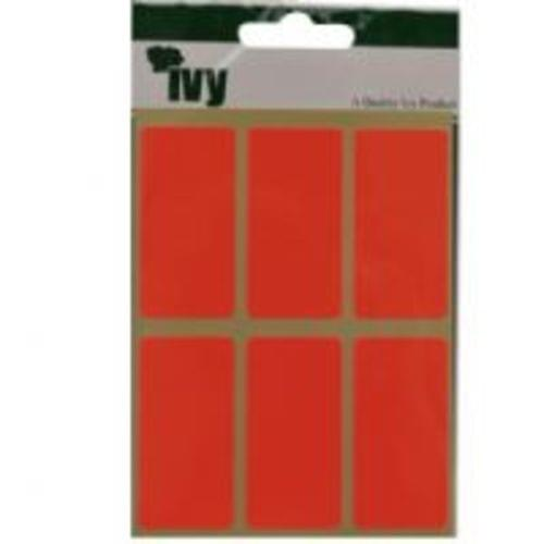 Ivy Self Adhesive Lable 25mm x 50mm Red  Pack 24