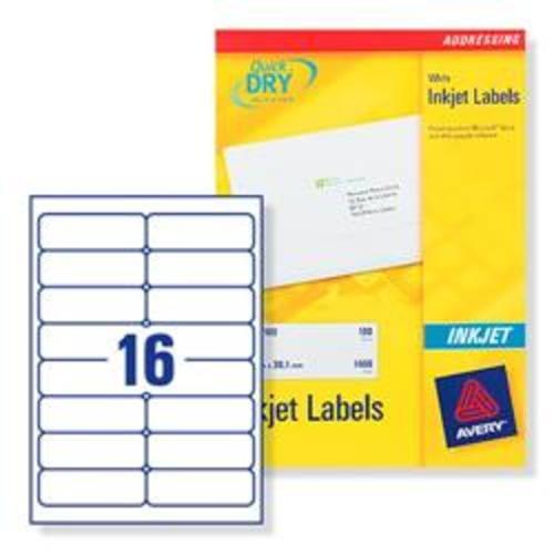 Avery Addressing Labels 16 Per Sheet 100 Sheets