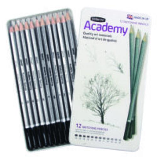 Derwent Academy Sketching Pencils Tin 12s