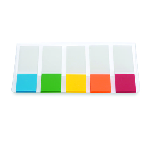 Initiative Index Tabs 12mm Wide Assorted Pack 5 x 20 Tabs OF Each Colours