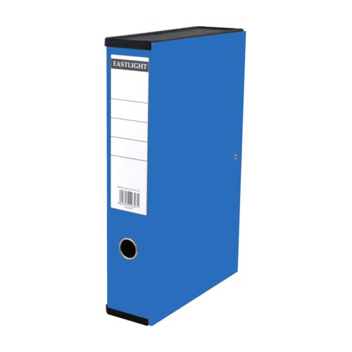 Linen Box Files Foolscap Blue