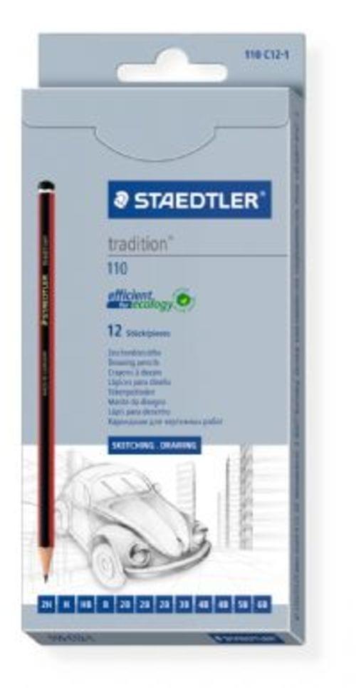 Staedtler Tradition Sketching Pencil Set Assorted 12 Grades